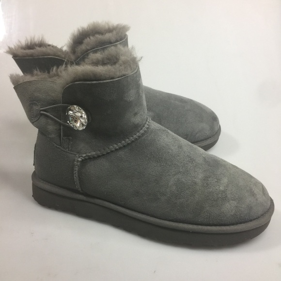 13dc645a014 UGG Mini Bailey Button Bling Ankle Boots 10 41